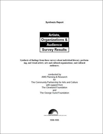 Artists, Organizations & Audience Survey Results