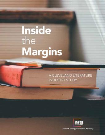 Inside the Margins Cover, image of books and paper
